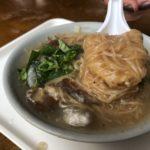 龍山寺にほど近い、朝から営業している麺線!陳記專業蚵仔麵線